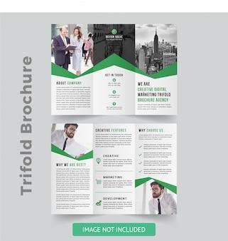 Brochure à trois volets créative
