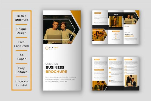 Brochure à trois volets d'entreprise créative