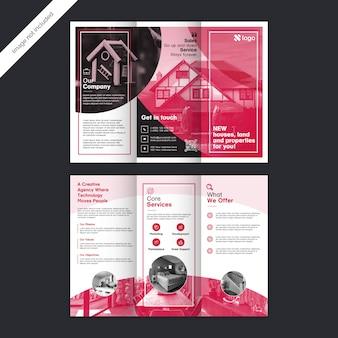 Brochure à trois volets sur l'immobilier moderne