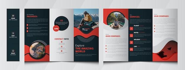 Brochure à trois volets pour les agences de voyages