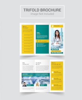 Brochure à trois volets de la société