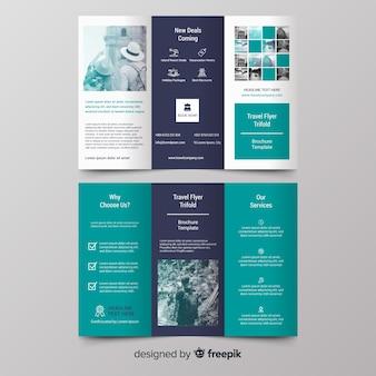 Brochure à trois volets de voyage photographique
