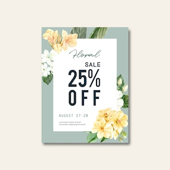 Brochure de vente florale
