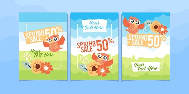 Brochure de vente de printemps