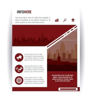 Brochure de la ville infographique