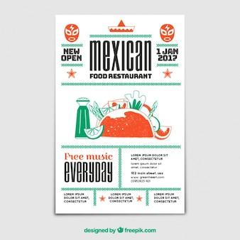 Brochure vintage de nourriture mexicaine