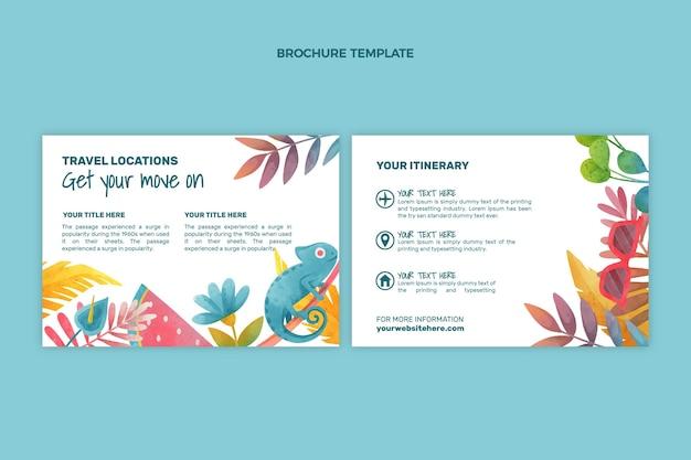 Brochure de voyage aquarelle