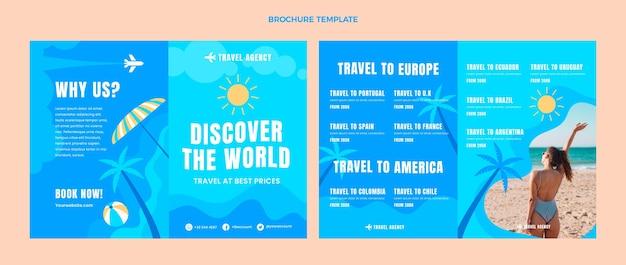 Brochure de voyage à plat