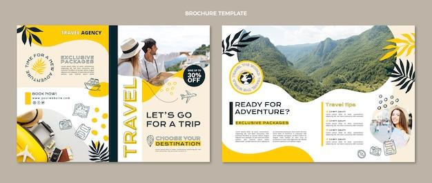 Brochure de voyage de style plat