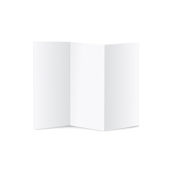 Brochures ou dépliants vierges à trois volets a4 illustration réaliste.