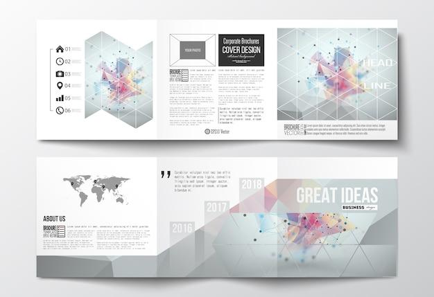 Brochures design à trois volets
