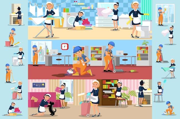 Brochures de l'entreprise de nettoyage