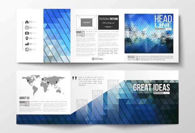 Brochures à trois volets
