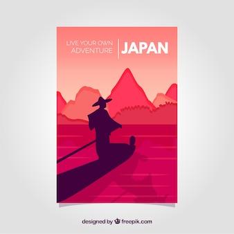 Brochures de voyage avec des silhouettes