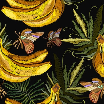 Broderie bananes