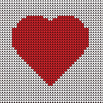 Broderie d'illustration de coeur sur motif de tissu