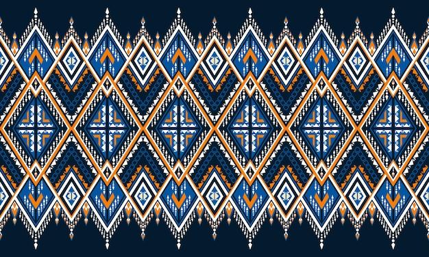 Broderie de motifs ethniques géométriques. tapis, papier peint, vêtements, emballage, batik, tissu, style de broderie d'illustration vectorielle.