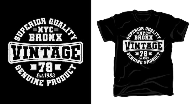 Bronx vintage soixante dix huit conception de t-shirt de typographie