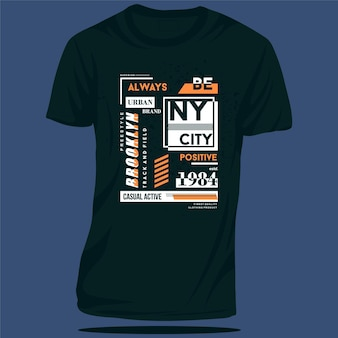 Brooklyn new york city t-shirt graphique design typographie illustration vectorielle style décontracté