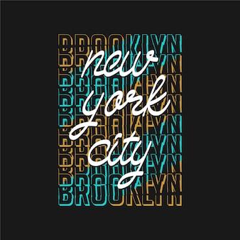 Brooklyn new york city typographie graphique t-shirt vecteur premium impression