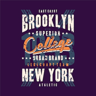 Brooklyn new york city typographie t-shirt design cool