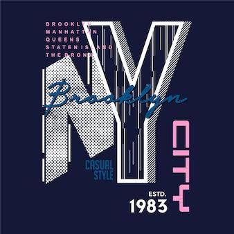 Brooklyn, ny city, objet lettrage symbole peintures murales conception graphique typographie