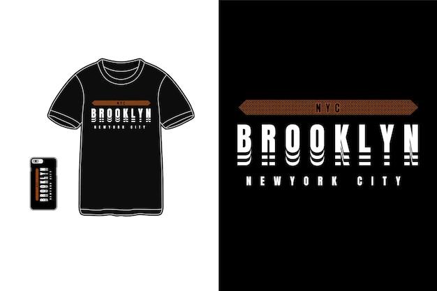 Brooklyn Pour La Silhouette De Conception De T-shirt Vecteur Premium