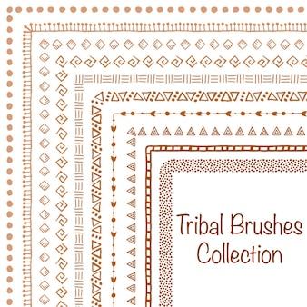 Brosse tribal ensemble