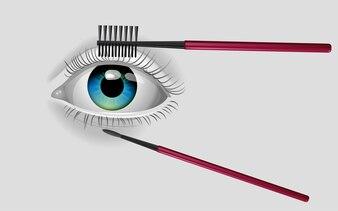 Brosser les outils pour les yeux