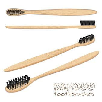 Brosses à dents en bambou.