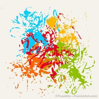 Brosses éclaboussures fond coloré
