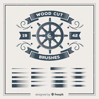 Brosses de gravure sur bois