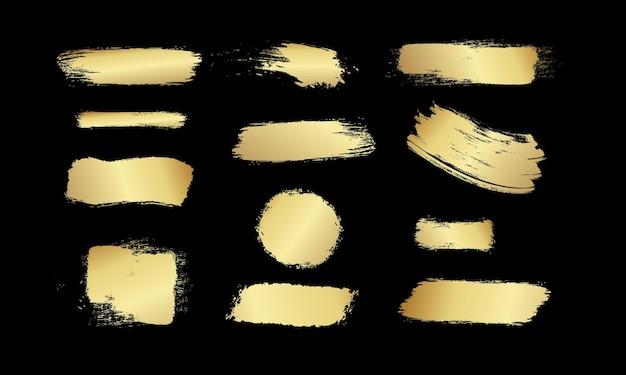 Brosses jaunes ensoleillées textures de peinture design coups de graffiti brosses de frottis jaunes