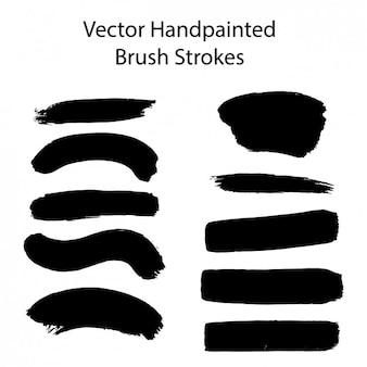 Brosses peintes à la main caresse collection