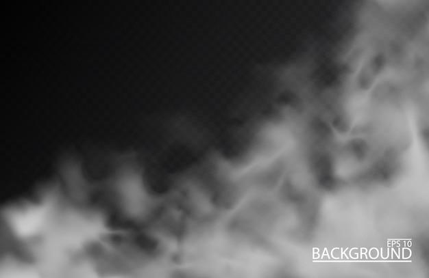 Brouillard blanc ou fumée