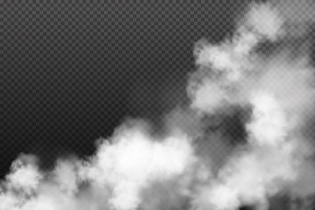 Brouillard blanc tourbillonnant