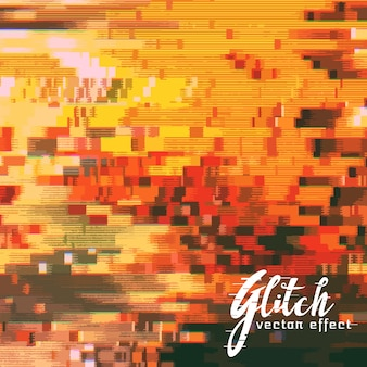 Brouillé glitch effect vector background