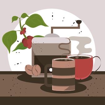Broyeur et boissons au café