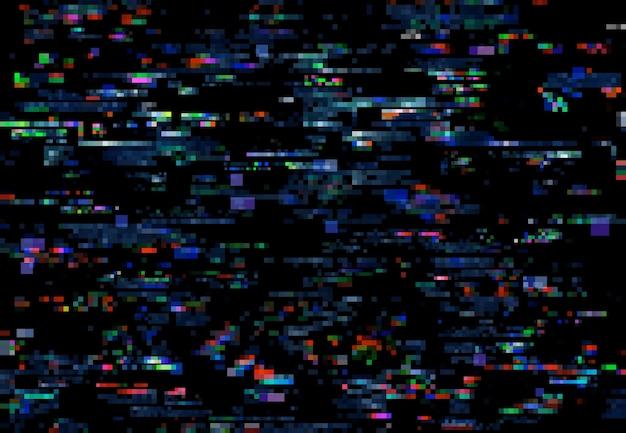 Bruit de glitch des pixels du téléviseur sur fond d'écran numérique