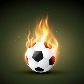 Brûler dans le football de feu