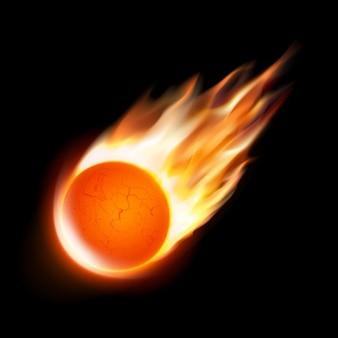 Brûler fond météorite