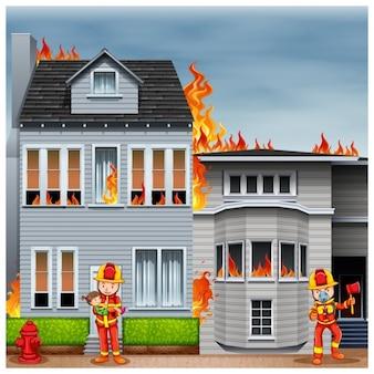 Brûler maison fond