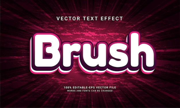 Brush effet de texte modifiable en 3d