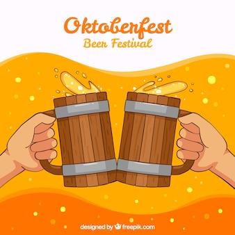 Brûte à la bière oktoberfest background