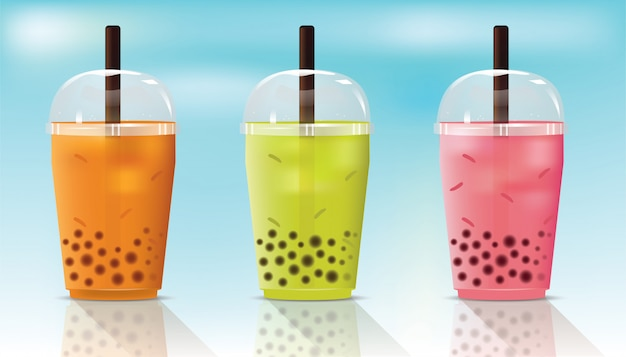 Bubble fresh tea cup