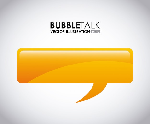 Bubble talk design, illustration vectorielle illustration eps10