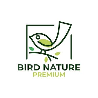 Bûche nature oiseau