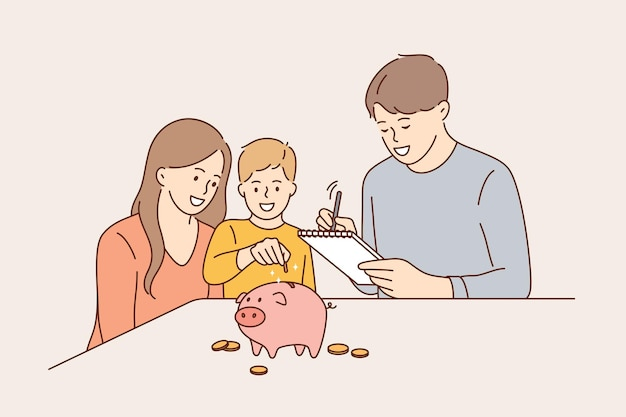 Budget familial et concept d'économie d'argent.