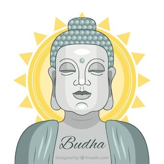 Budha coloré avec un design plat