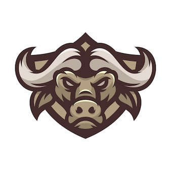 Buffalo - vector logo / icône illustration mascotte